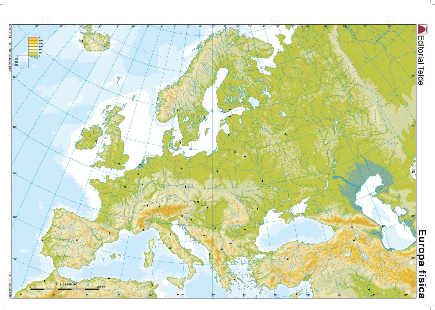 Europa Mapa Físico - ThingLink