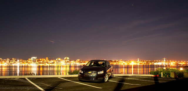 2014 Chevrolet Cruze Diesel Halifax skyline at night