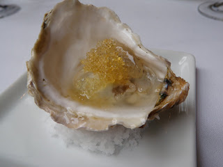 Oyster with tobiko