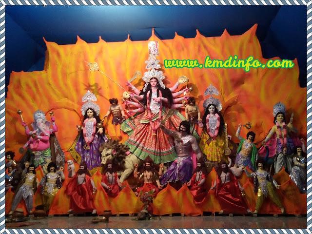 শেঠ কলনী ঐক্য সম্মেলনী ক্লাব পূজার প্রতিমা
