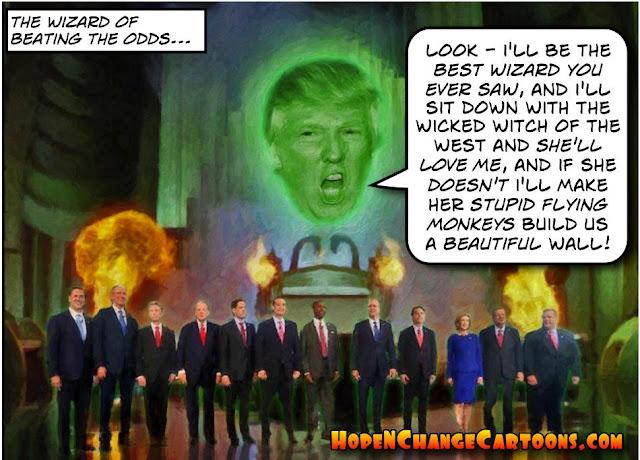 obama, obama jokes, political, humor, cartoon, conservative, hope n' change, hope and change, stilton jarlsberg, gop, debate, cnn, trump, wizard of oz