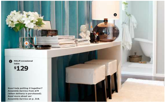 Lcdf la conception des femmes ikea 2012 preview for Skinny dressing table