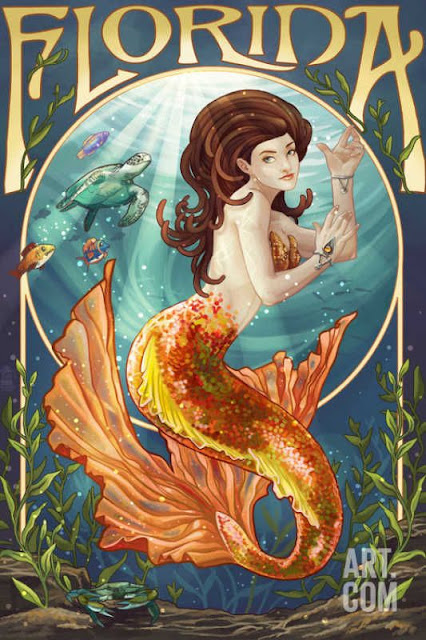 Florida Mermaid Art