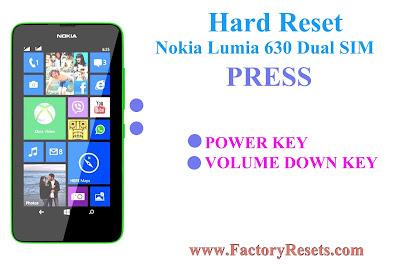 Hard Reset Nokia Lumia 630 Dual SIM