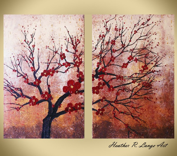 "Heather R. Lange Art: ORIGINAL Home Decor Art Painting ""Wairudo"