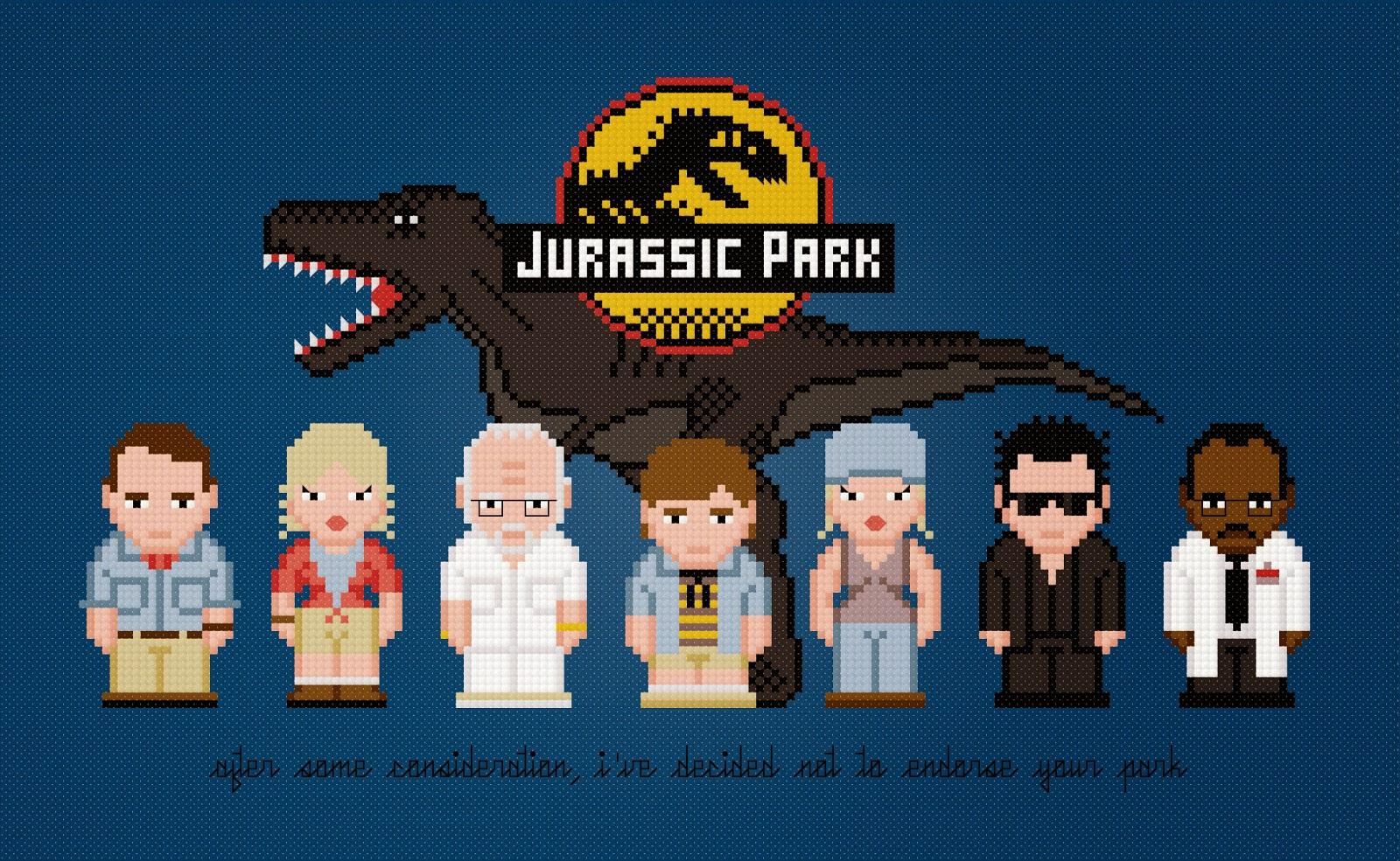 Jurassic Park - Cross Stitch PDF Pattern Download