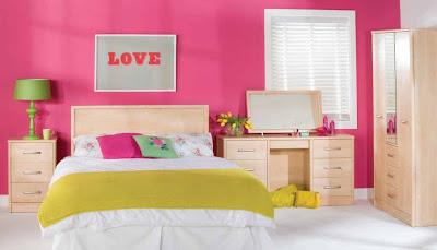 Desain Kamar Tidur Minimalis Warna Pink Cantik