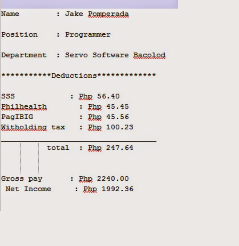 Doc616625 Sample of Payslip Salary Doc524675 Samples of – Sample Pay Slip