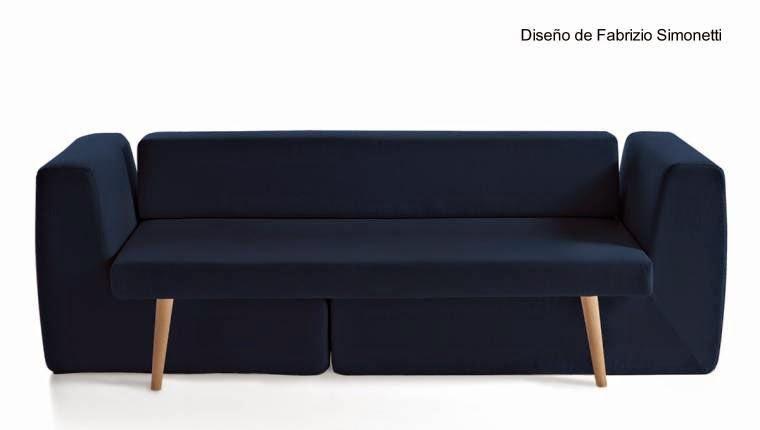 Sofá modular tapizado tono oscuro