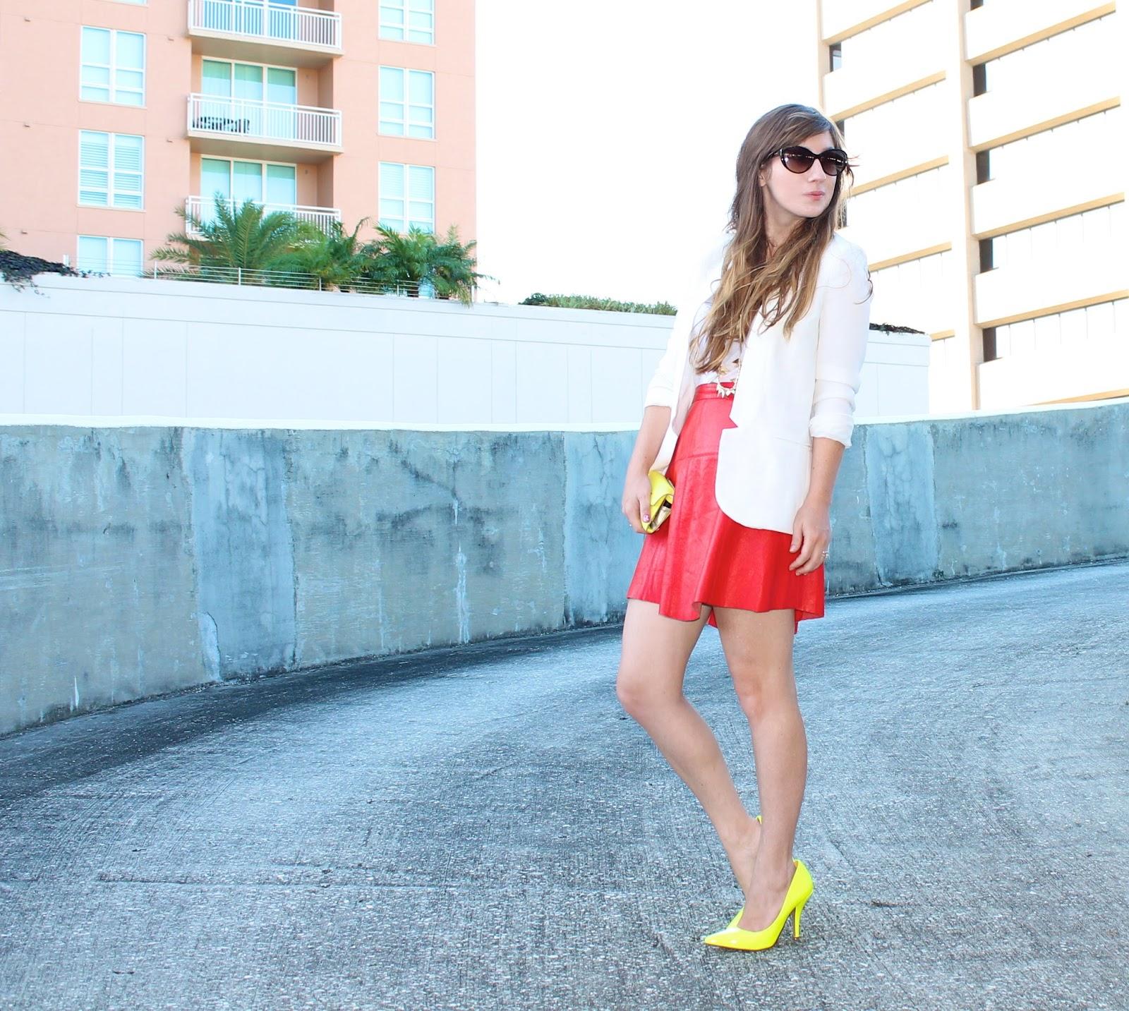 blogger white blazer style