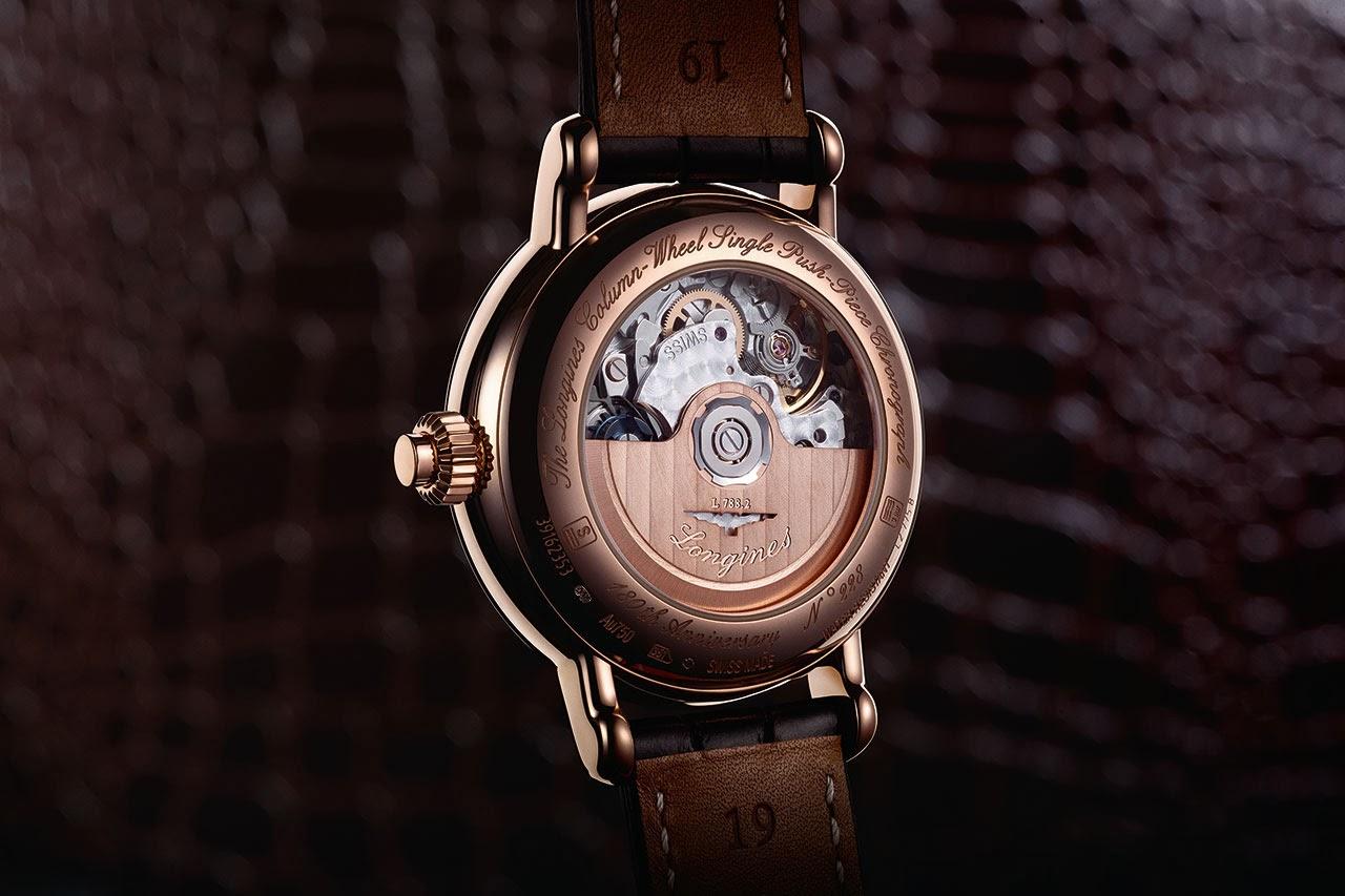 The Longines Column-Wheel Single Push-Piece Chronograph Watch back