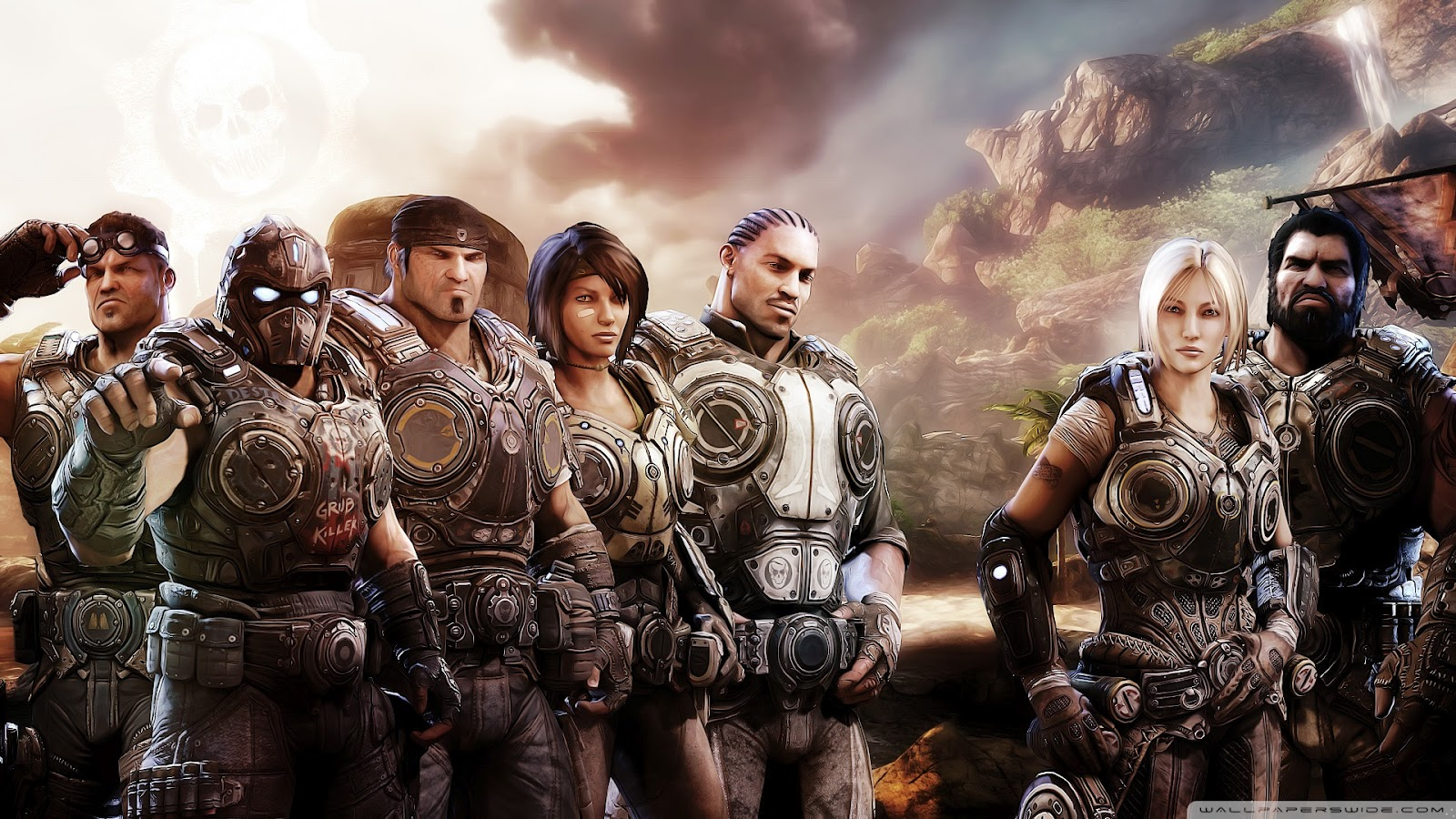 Gears of War HD & Widescreen Wallpaper 0.365820829437474