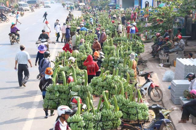 Chợ chuối ngày Tết