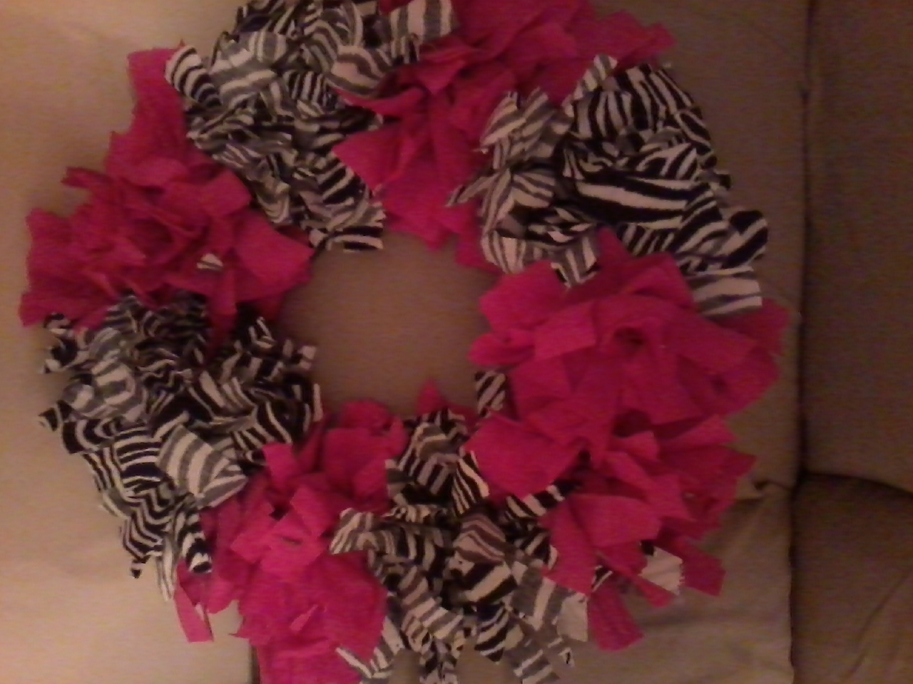 zebra wreath