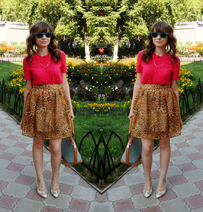 LIVE 2013, Outfit, Handmade, Blouse, Skirt, Nucelle, Bag, Вестфалика, Shoes, Ray-Ban, Sunglasses
