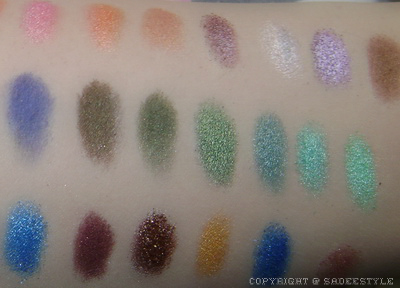 120 palette swatches