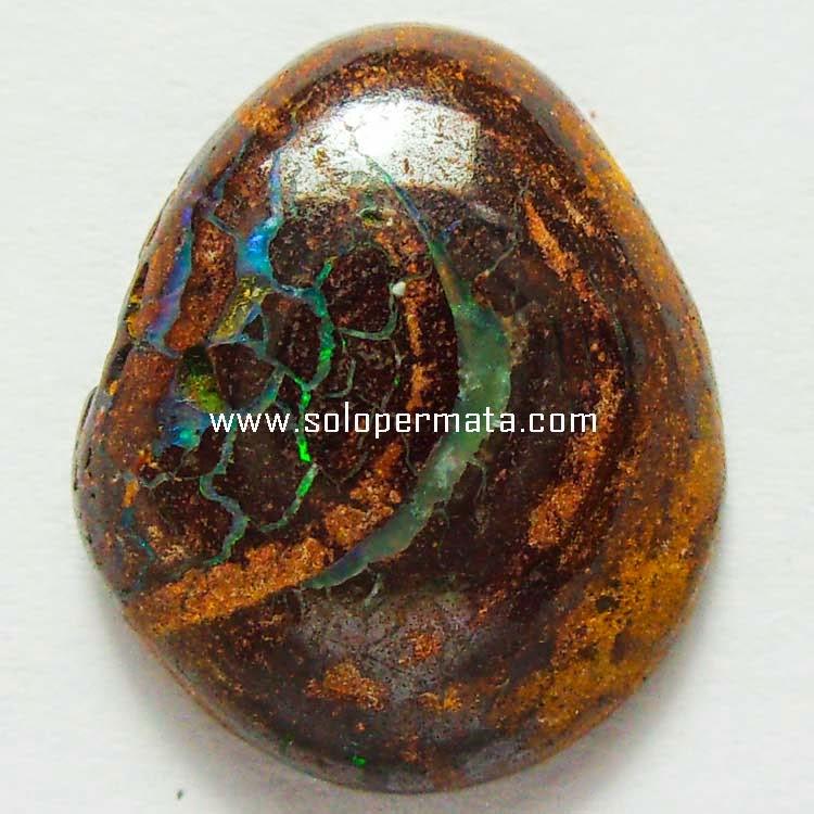 Batu Permata Boulder Opal Kalimaya - Sp059