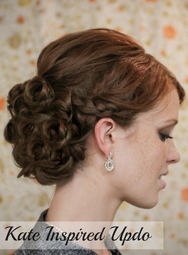Curly Hair Updo Tutorial