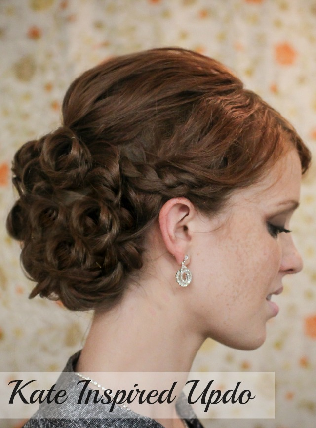 The Freckled Fox Holiday Hair Week Tutorial 3 Kate Inspired Updo