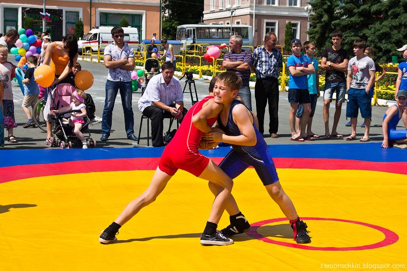 Юные борцы. День города в Саранске