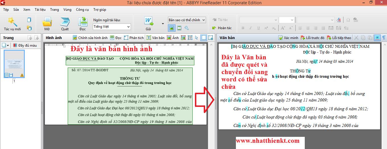 ABBYY FineReader 11 Portable - Phần mền quét ảnh, pdf chuyển đổi thành văn bản