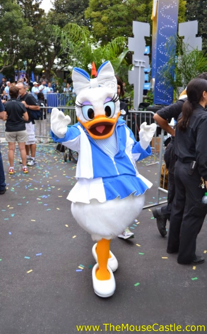 Daisy Duck at the 2014 Disneyland Half Marathon