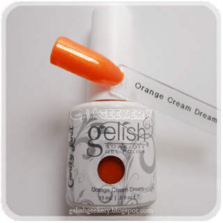 Gelish Swatch Orange Cream Dream