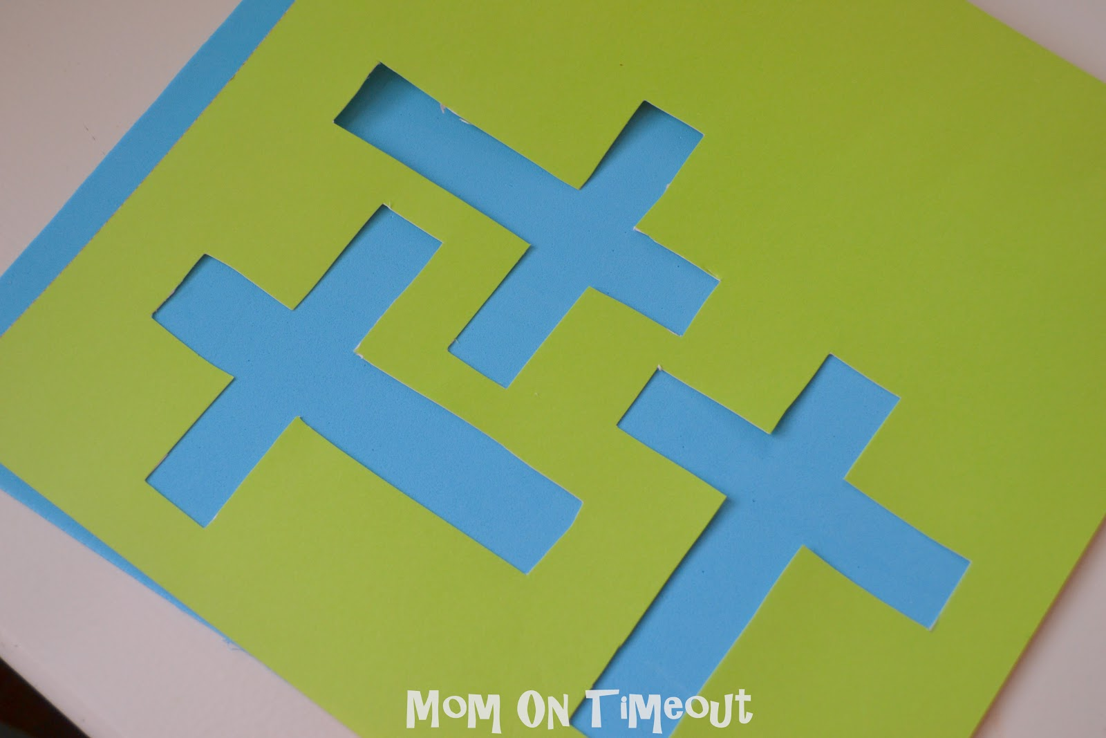 Easter crafts for seniors - Stained Glass Cross Craft