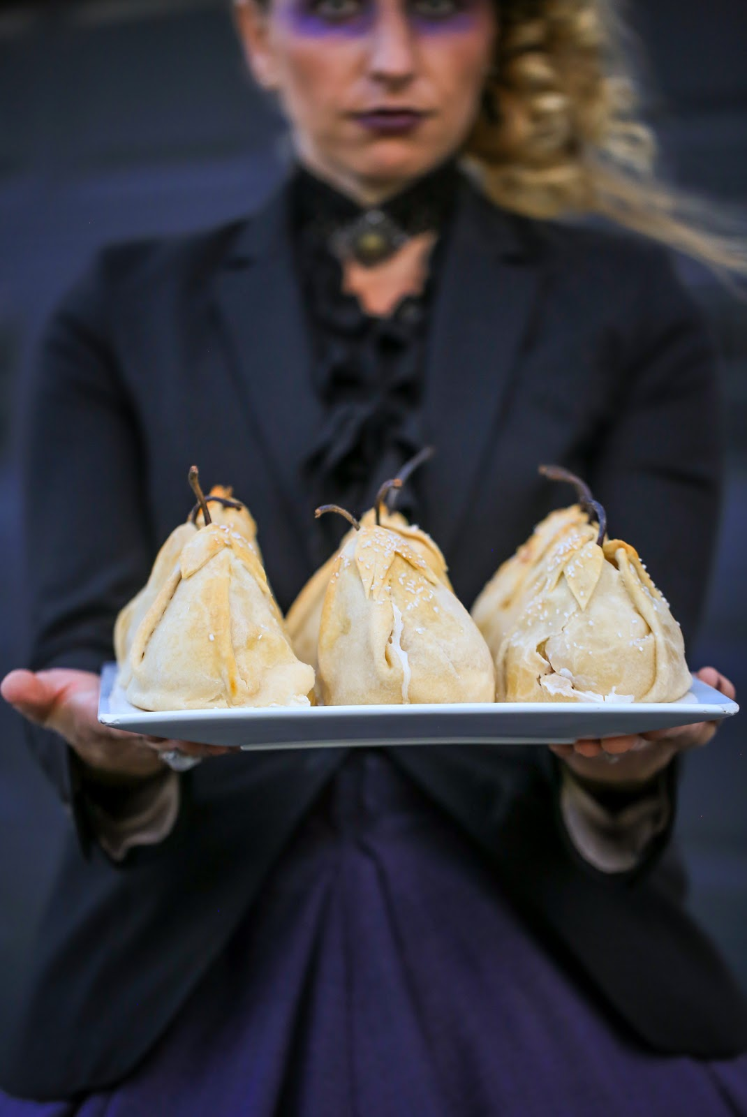 autumn pear dumplings