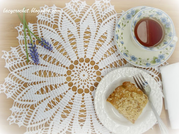 doily and tea
