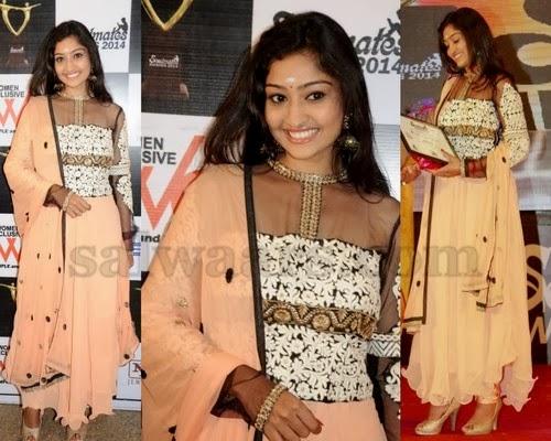 Neelima Rani in Peach Color Salwar