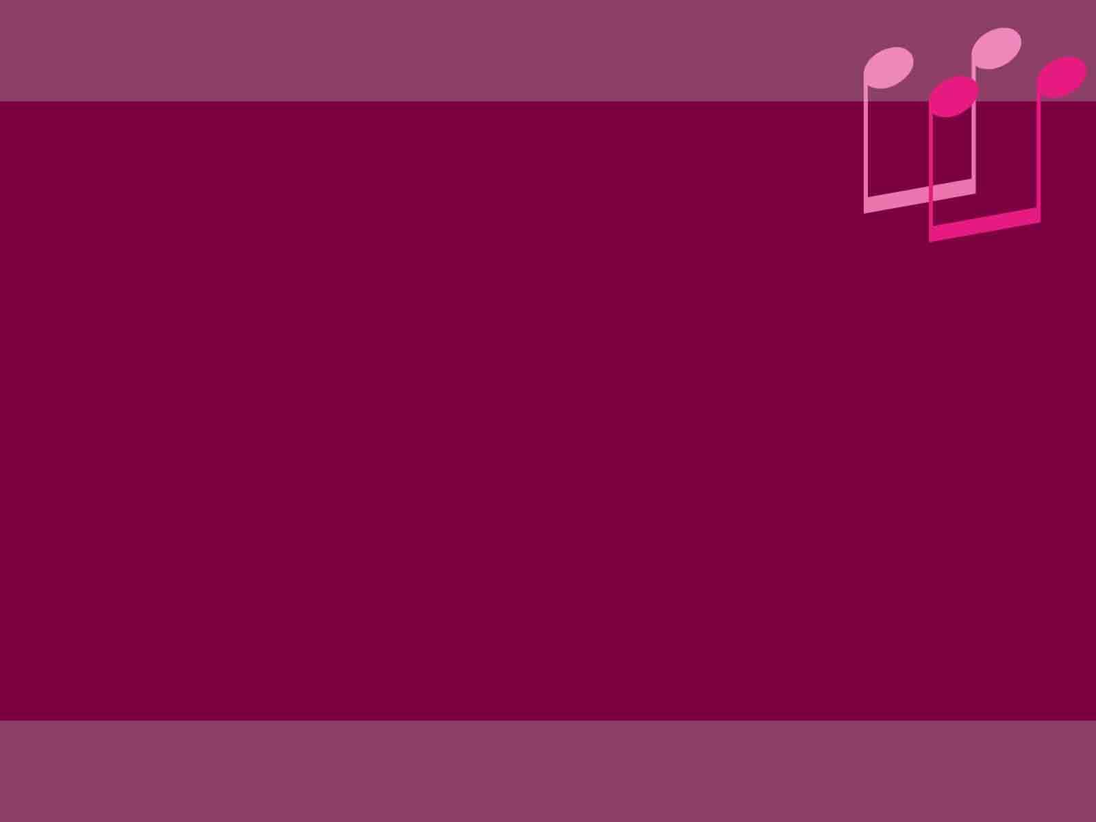 pink music ppt design