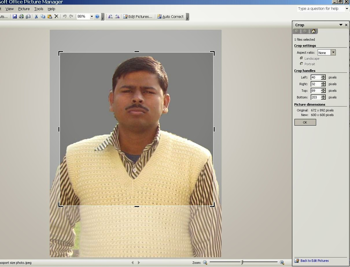 How to resize passport size photo for uploading in AFCAT online ...