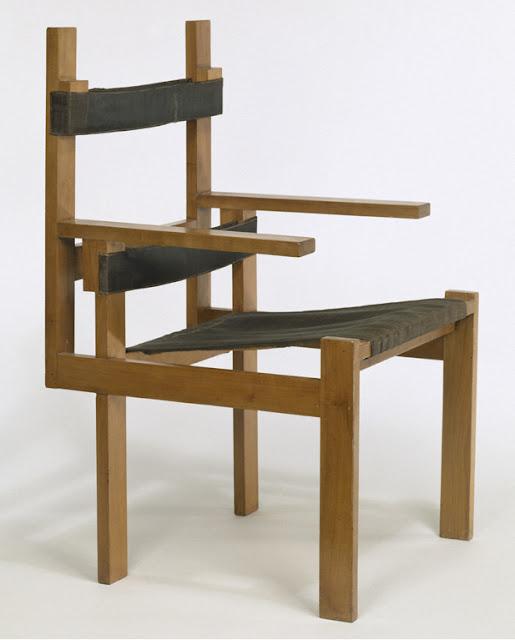 Marcel Breuer, armchair, 1922/4. V&A, museum