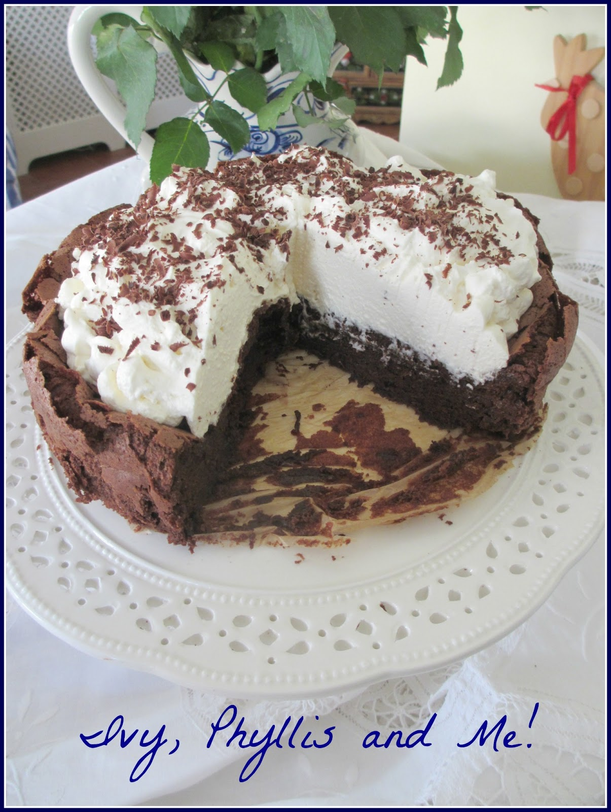 Ivy, Phyllis and Me!: CHOCOLATE CLOUD CAKE