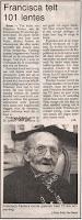 Celine Peeters 1895-1996 vierde in haar woning haar 101ste verjaardag