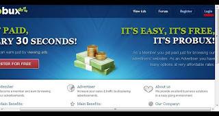 cara mendapatkan uang dengan klik iklan di probux
