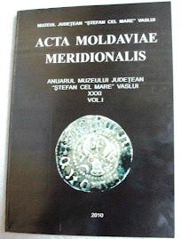 "Coperta 1 a revistei ""Acta Moldaviae Meridionalis"", tomul XXXI, nr. 1...."