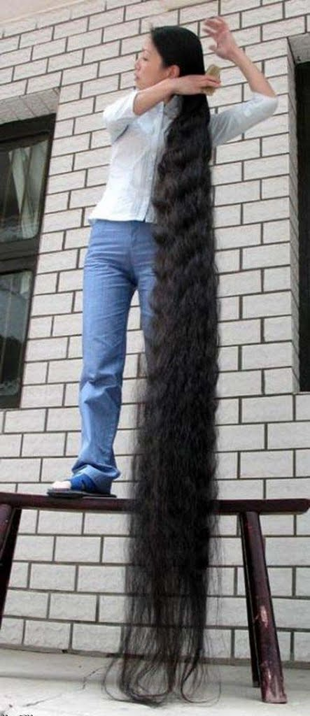 book of guinnes world record longest hair xie quiping