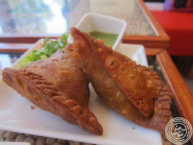 image of lamb samosa at Hoboken Dhaba, New Jersey NJ