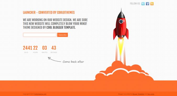 Launcher Blogger Template