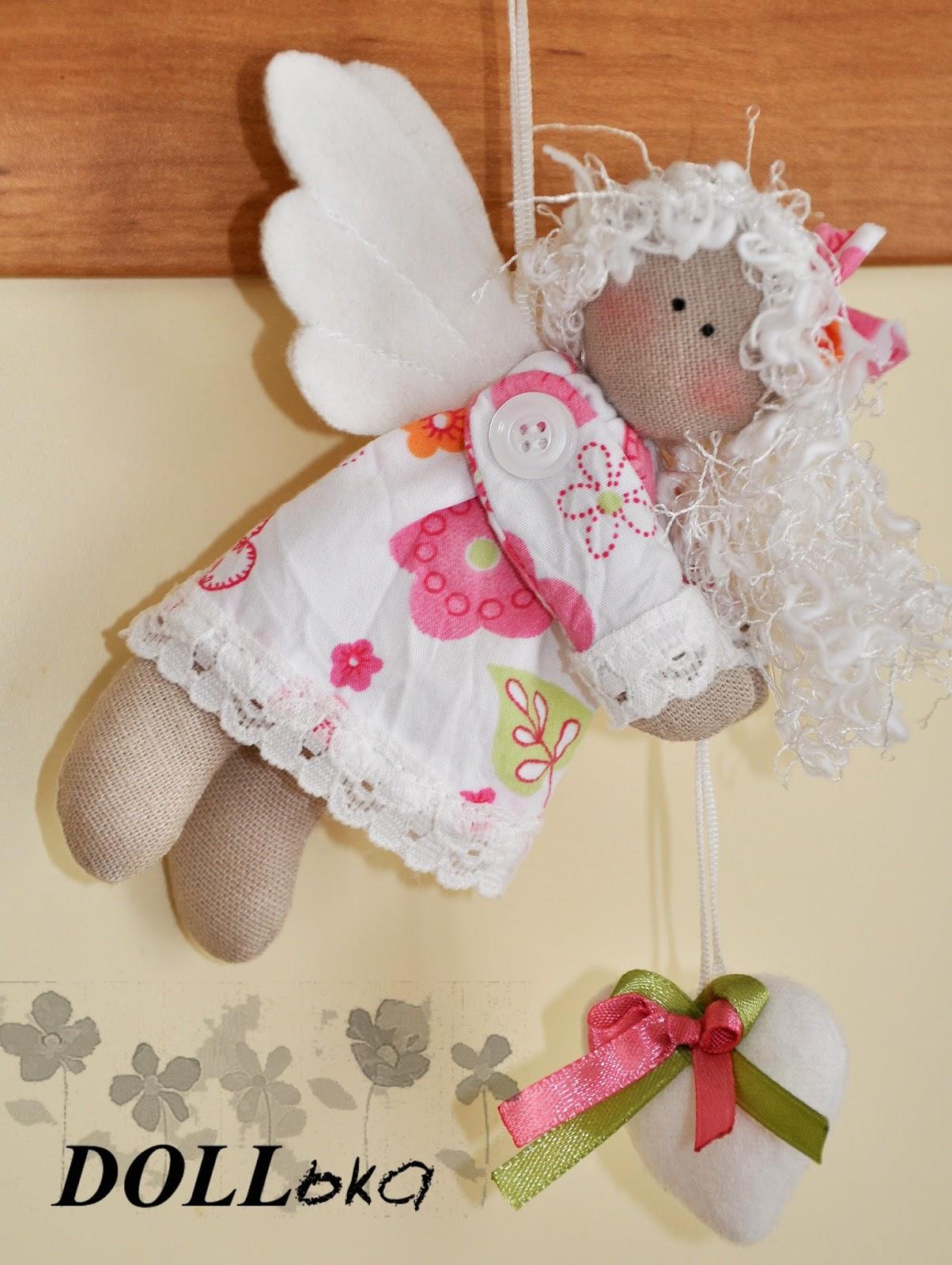 летящий ангел текстильная игрушка ручной работы