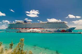 Norwegian Breakaway Docked in Bermuda