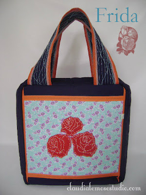 Bolsa para guardar esmaltes - modelo Frida