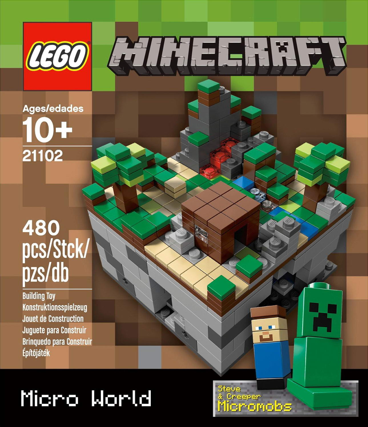 Set database lego 21102 minecraft micro for Lego world craft