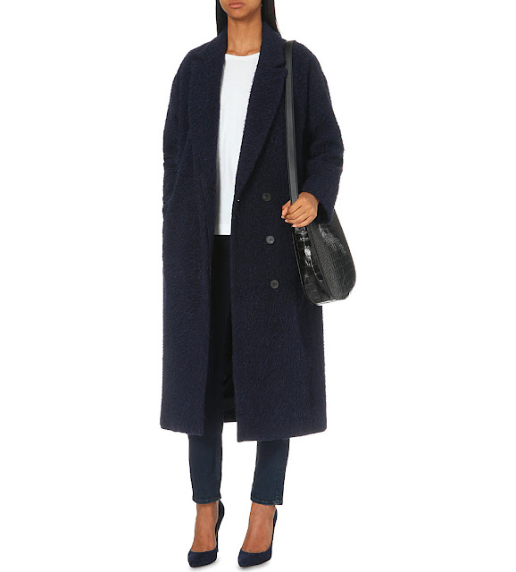 MIH jeans navy coat, MIH long coat,