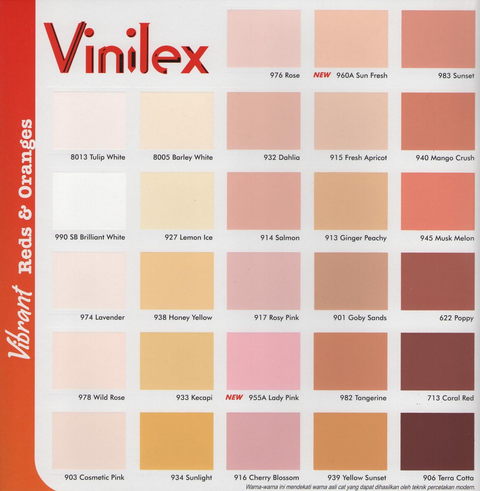 Katalog Warna Cat Genteng Vinilex 2015 | Home Design Ideas