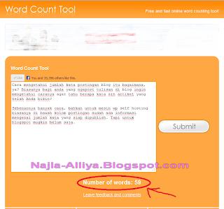 Cara mengetahui jumlah kata postingan blog