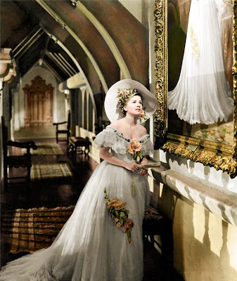 Hitchock Joan Fontaine Costume Painting