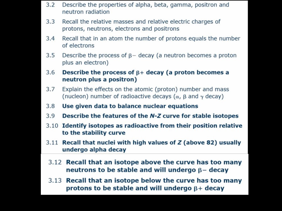 GCSE Physics Nuclides Beta Plus decay Nuclear equations – Nuclear Radiation Worksheet